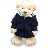 スマステ、行列のできる法律相談所で紹介されたプチレダのミニチュア制服ベア 卒業記念・卒園記念に思い出いっぱいの制服をテディベアに!:アニバーサリーベアの写真