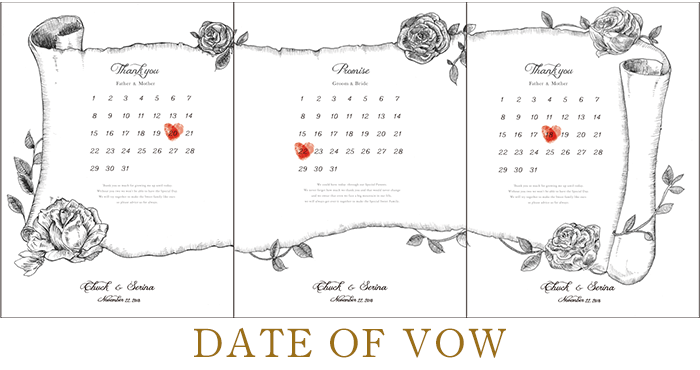 DATE OF VOW