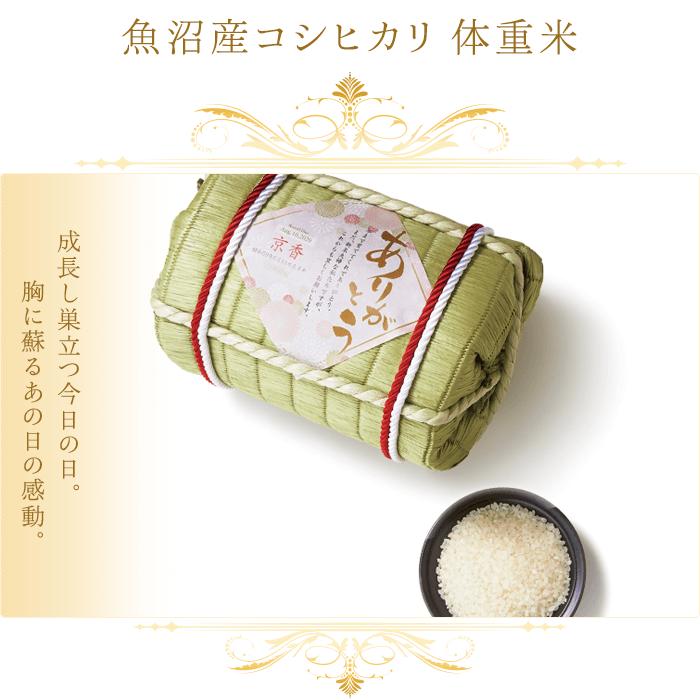 魚沼産コシヒカリ 体重米 俵の写真